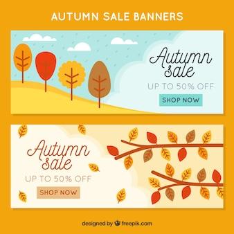 2 banners promocionais bonitos para o outono
