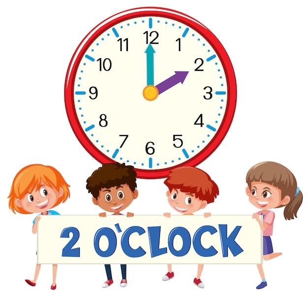 2 horas e estudantes