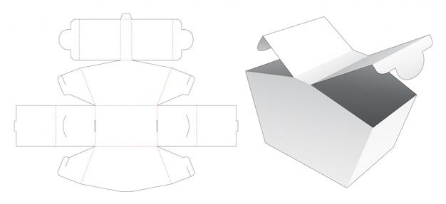 2 pontos de abertura caixa de embalagem modelo de corte