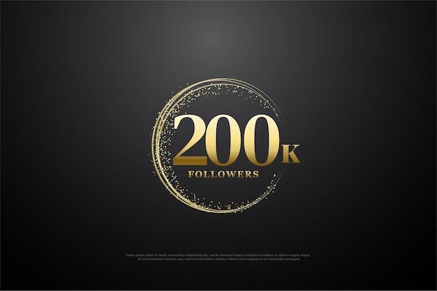 200 mil seguidores com areia dourada