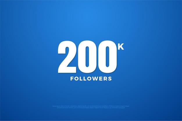 200 mil seguidores com números brancos.