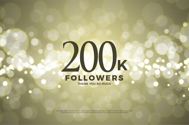 200 mil seguidores com números e letras.
