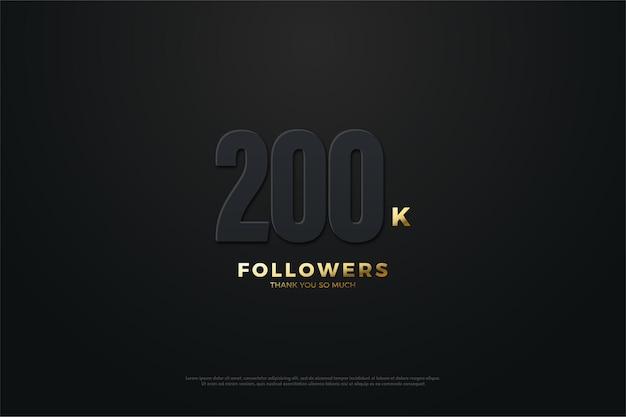 200 mil seguidores com números escuros.
