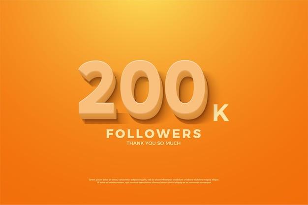 200k seguidores com design simples.