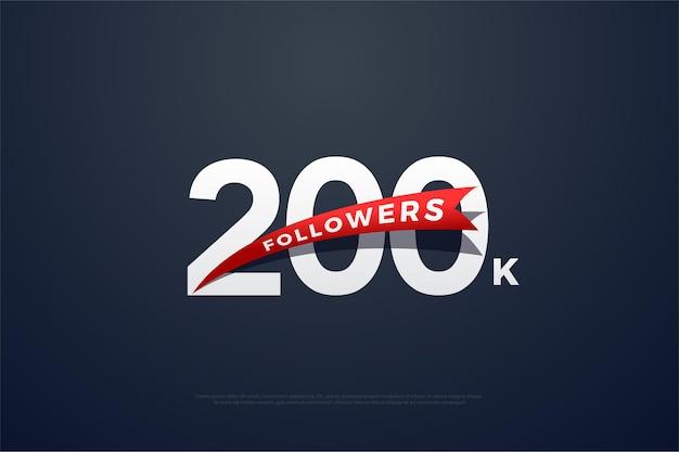 200k seguidores com números tridimensionais.