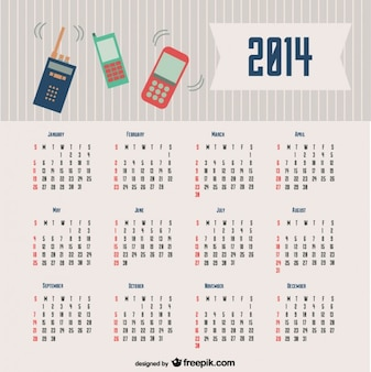 2014 design de comunicação calendário