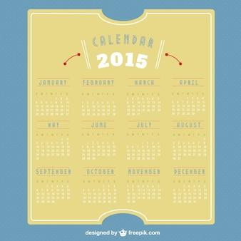 2015 calendário retro