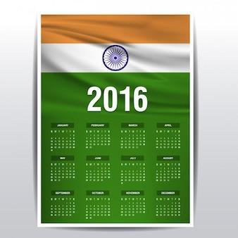 2016 calendário da índia