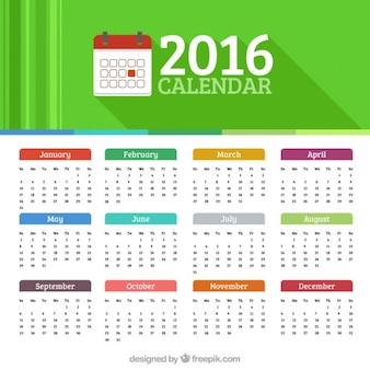 2016 calendário