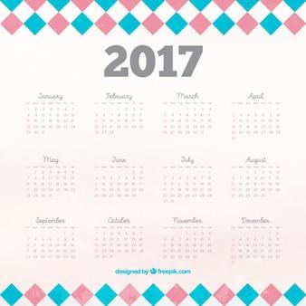 2017 calendário com quadrados