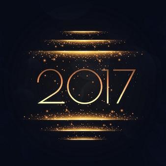 2017, com efeito de luzes douradas
