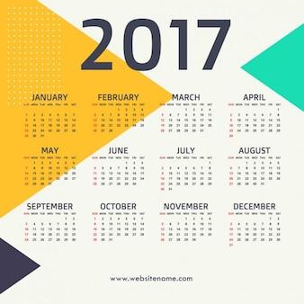 2017 new year design com formas triangulares