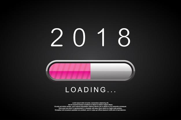 2018 barra de carregamento. feliz ano novo 2018