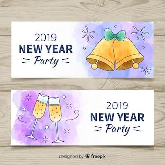 2019 banners de festa de ano novo