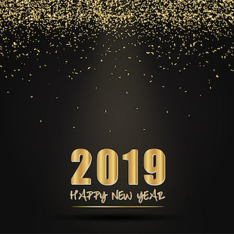 2019 design de cartão de feliz ano novo.