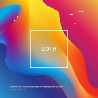 2019 design de cartaz de ano novo.