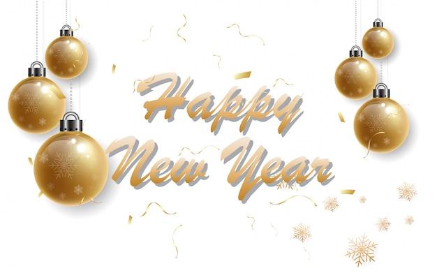 2019 feliz ano novo com o alfabeto de ouro sobre fundo preto