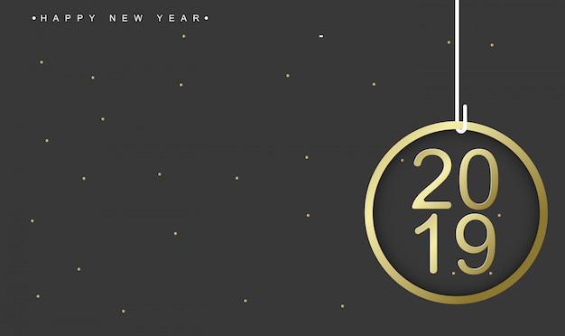 2019 modelo de cartão de feliz ano novo
