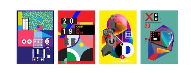 2019 novo modelo de design de pôster e capa