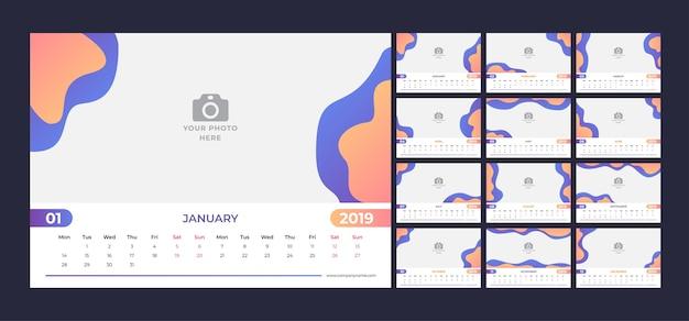 2019 projeto do calendário.