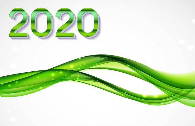 2020 abstrato de cartão de felicitações de ano novo