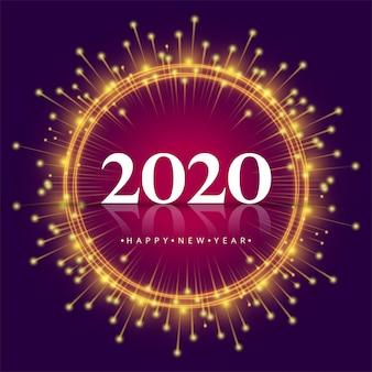 2020 ano novo cartão colorido criativo