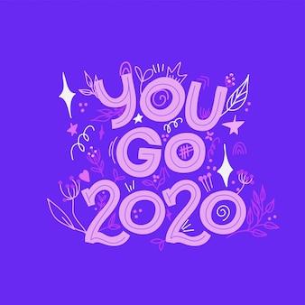 2020 ano novo cartões postais