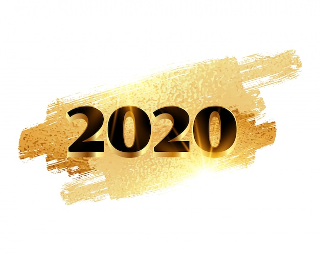 2020 ano novo dourado fundo brilhante