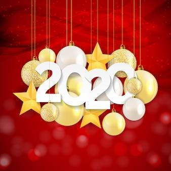 2020 ano novo e feliz natal fundo