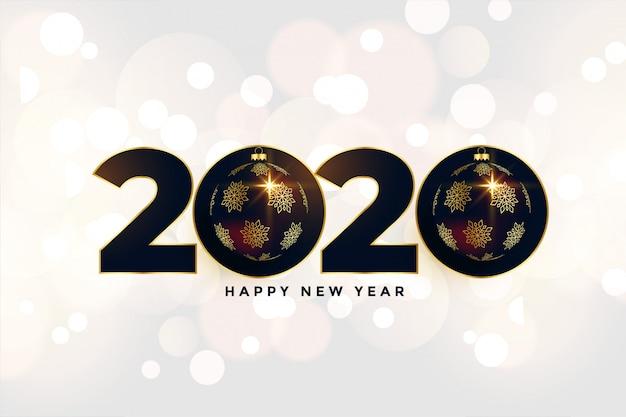 2020 ano novo linda saudação em estilo de natal