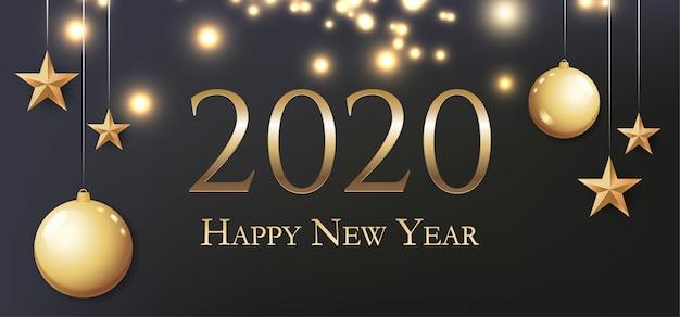 2020 feliz ano novo banner