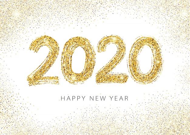 2020 feliz ano novo cartão