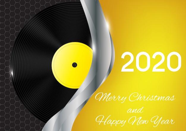 2020 feliz ano novo e feliz natal cartão