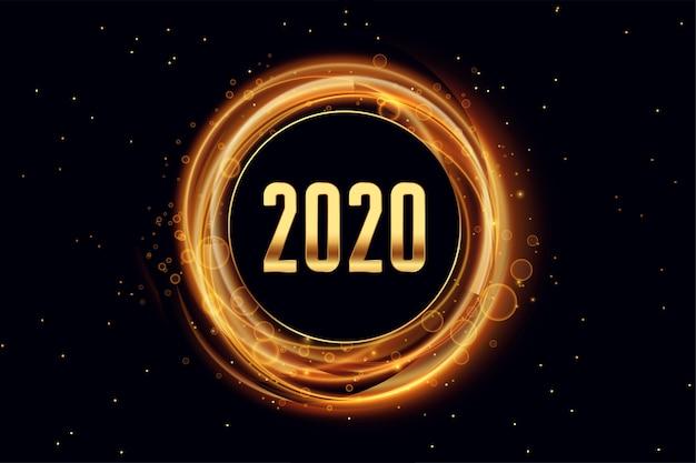 2020 feliz ano novo efeito de luz estilo de fundo