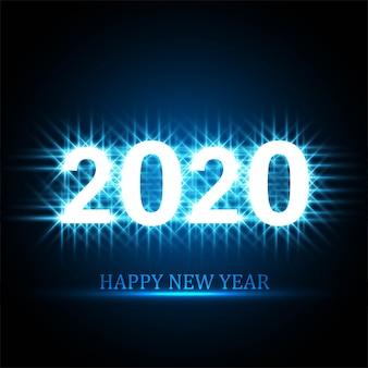 2020 feliz ano novo texto design de cartão de celebração