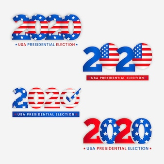 2020 logotipos da eleição presidencial dos eua
