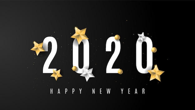 2020 sinal de ano novo de ouro