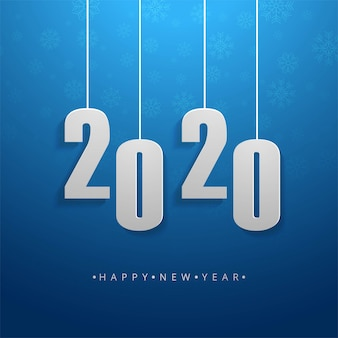 2020 texto feliz ano novo feriado vetor cartão