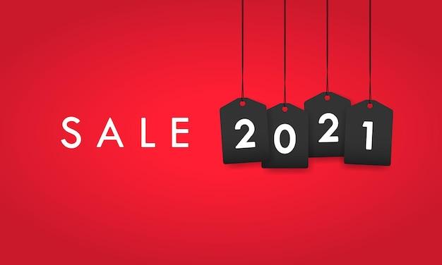 2021 banner de venda. etiqueta de desconto. vetor em fundo isolado. eps 10.