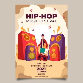 2021 cartaz ilustrado do festival de música