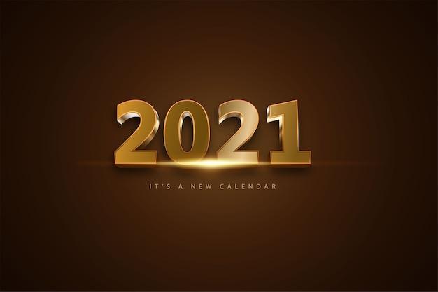 2021 é um novo plano de fundo do calendário