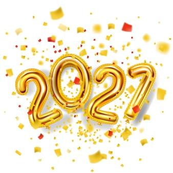 2021 feliz ano novo decoração feriado fundo dourado