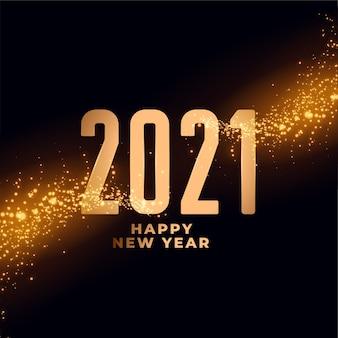 2021 feliz ano novo design de fundo com brilhos brilhantes
