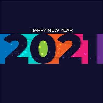 2021 feliz ano novo fundo colorido mínimo