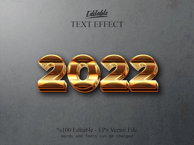2022 efeito de texto editável