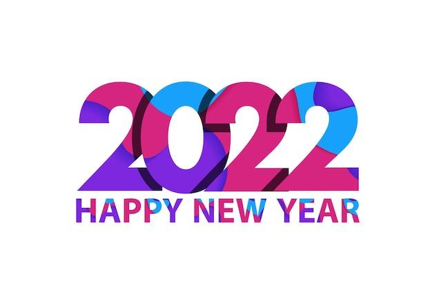 2022 feliz ano novo, capa do diário de negócios para 2022 com votos. modelo de design de brochura, cartão, banner. ilustração vetorial
