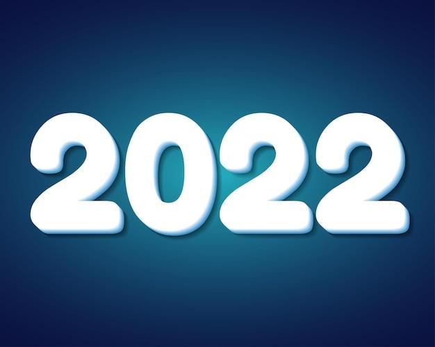 2022 feliz ano novo. números estilo 3d. números lineares do vetor. design de cartões de felicitações. ilustração vetorial. vetor grátis.