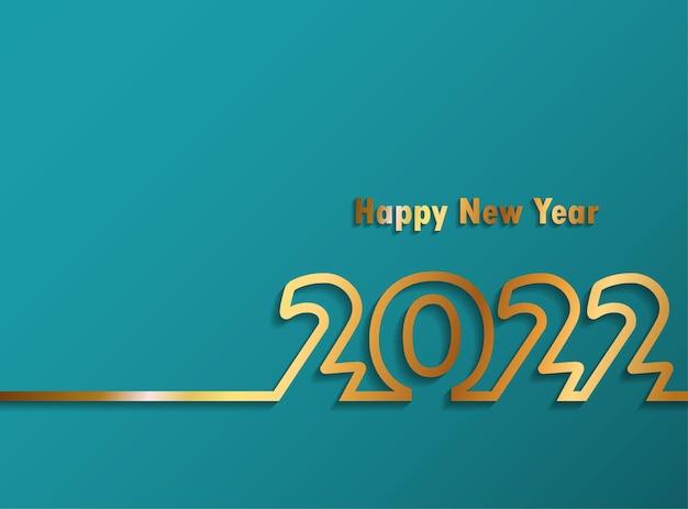 2022 feliz ano novo. números estilo minimalista. números lineares do vetor. design de cartões de felicitações. ilustração vetorial. vetor grátis.