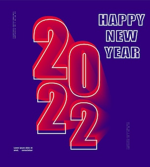 2022 feliz novo cartão de felicitações