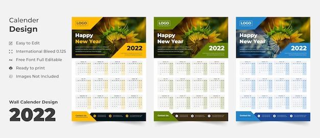 2022 modelo de calendário de parede agenda calendário planejador de negócios anual calendário de eventos calendário